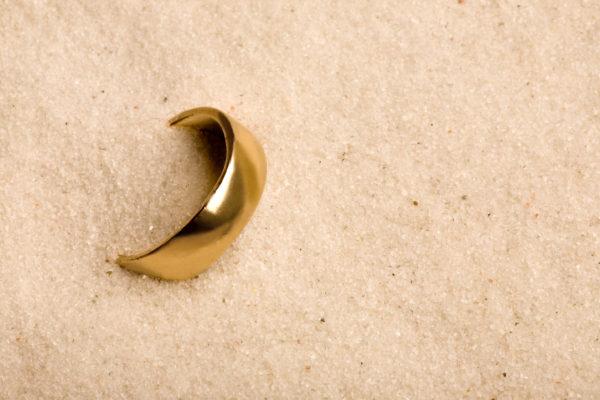 Wedding Ring in Sand